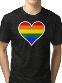 Homosexual Heart in White Tri-blend T-Shirt