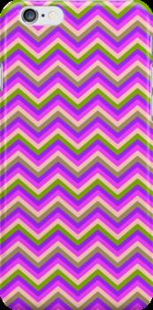 Retro Zig Zag Chevron Pattern by Medusa81