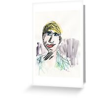 Part Tab Works - woman 4 Greeting Card