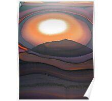 Sunset behind Glastonbury Tor  1 Poster