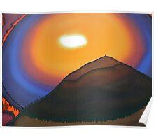 Sunset behind Glastonbury Tor 2 Poster