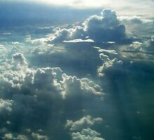 Sunrays over the Clouds by Tim Coleman