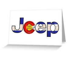 Colorado flag Jeep letters Greeting Card