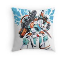 Metal Storm M-308 Gunner Mecha Throw Pillow