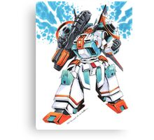 Metal Storm M-308 Gunner Mecha Canvas Print