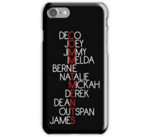 The Commitments names iPhone Case/Skin