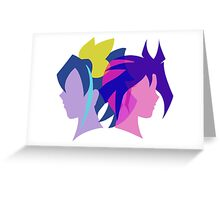 Arc V Ship Silhouette- Yuri/Serena Greeting Card