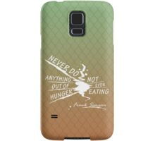 True Detective Out of Hunger white Samsung Galaxy Case/Skin