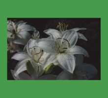 Sparkling White Oriental Lilies After a Rain Shower Baby Tee