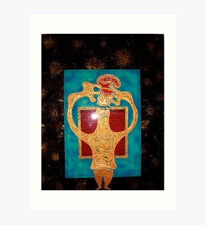 STAR GAZER  150cmX 120cmX7cm Art Print