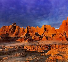 Sunrise over Badlands Door Trail .2 by Alex Preiss
