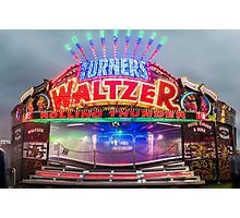 Keith turners waltzer hoppings 2015 Photographic Print