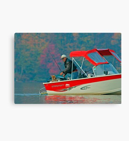 Two Friends Fishing Canvas Print