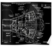 Project Mercury Drawings and Technical Diagrams mercury10032 Poster