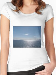 Ocean view, Point Roberts, WA Women's Fitted Scoop T-Shirt