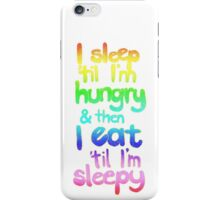 Sleepy / Hungry iPhone Case/Skin