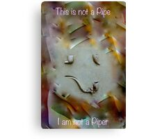This is not a Pipe 3 Canvas Print