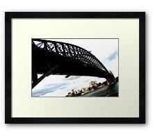 Base view Harbour Bridge Framed Print