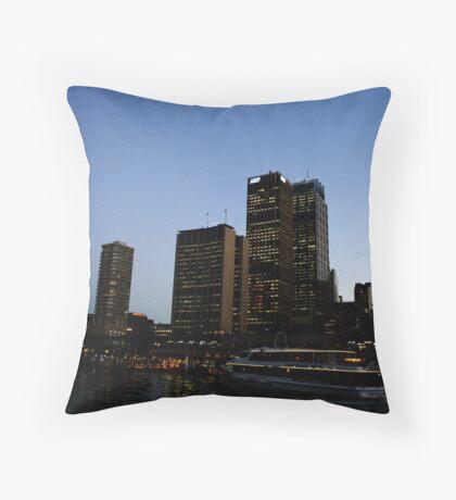 Circular Quay, Dusk. Throw Pillow