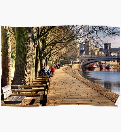 By The Riverside - York Poster