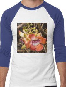 Unique Cannonball Tree Tropical Flower Men's Baseball ¾ T-Shirt