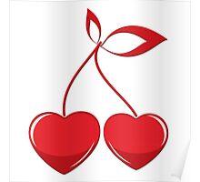 Valentine cherry composition Poster