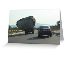 Loads on Road Greeting Card