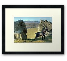 The Guardian of the Portal Framed Print