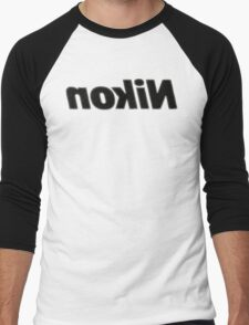 Nokin/Nikon Halftoned Mirror Men's Baseball ¾ T-Shirt