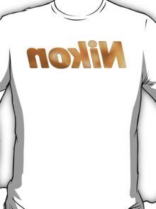Nokin/Nikon Gold Textured Mirror T-Shirt