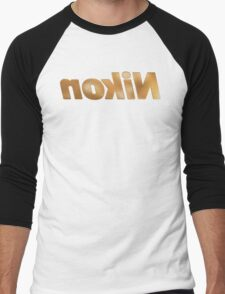 Nokin/Nikon Gold Textured Mirror Men's Baseball ¾ T-Shirt
