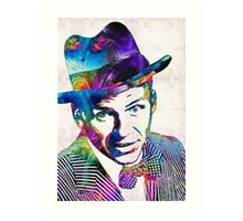 Frank Sinatra Art - Old Blue Eyes - By Sharon Cummings Art Print