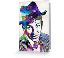 Frank Sinatra Art - Old Blue Eyes - By Sharon Cummings Greeting Card