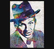 Frank Sinatra Art - Old Blue Eyes - By Sharon Cummings Kids Clothes