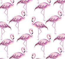 Pink flamingo by JuliaBadeeva
