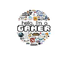 hello, I'm a gamer Photographic Print
