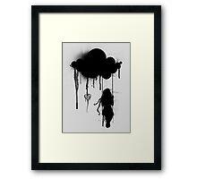 the rain Framed Print