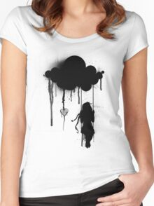 the rain Women's Fitted Scoop T-Shirt