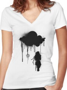 the rain Women's Fitted V-Neck T-Shirt