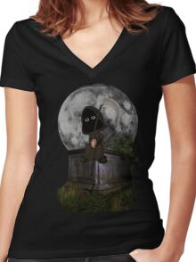 Why do I always have to cut the grass? Women's Fitted V-Neck T-Shirt