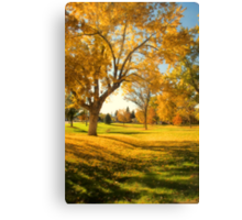 A Late Autumn Afternoon Canvas Print