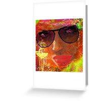 """"""" Woman with glasses, full sun the head !! Greeting Card"""
