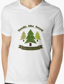 Smells Like Forest - Team Robin Hood Mens V-Neck T-Shirt