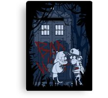 Bad wolf in Gravity falls Canvas Print