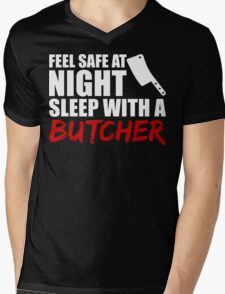 Funny Butcher T Shirt Mens V-Neck T-Shirt