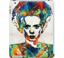Frankenstein Bride Art - Colorful Monster Bride - By Sharon Cummings iPad Case/Skin