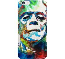 Frankenstein Art - Colorful Monster - By Sharon Cummings iPhone Case/Skin