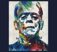 Frankenstein Art - Colorful Monster - By Sharon Cummings Kids Clothes