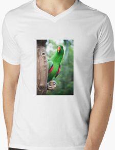 Parrot Mens V-Neck T-Shirt