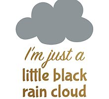 A Little Black Rain Cloud by elainalynn